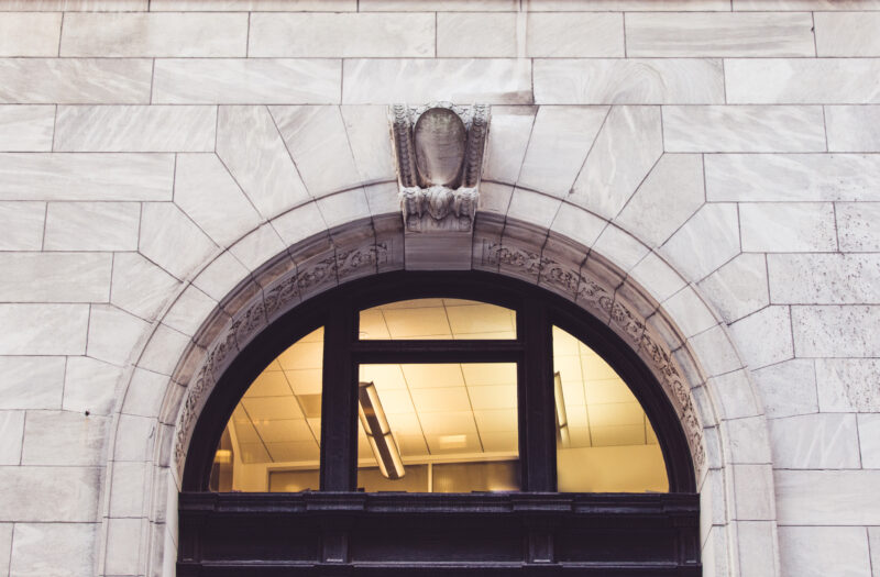Arch Building Entrance Free Stock Photo