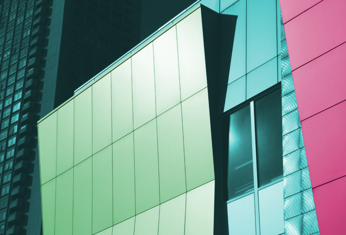 Colorful Abstract Building Free Stock Photo