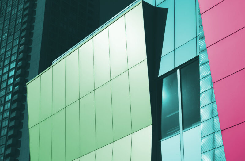 View Colorful Abstract Building Free Stock Image