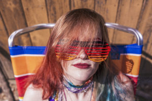 Girl with Colorful Sunglasses Free Photo