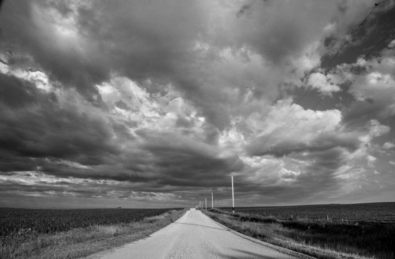 Stormy Road Free Stock Photo