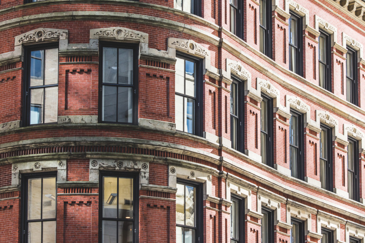 Urban Brick Facade Free Photo