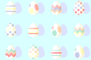 Pastel Easter Eggs Free Photo