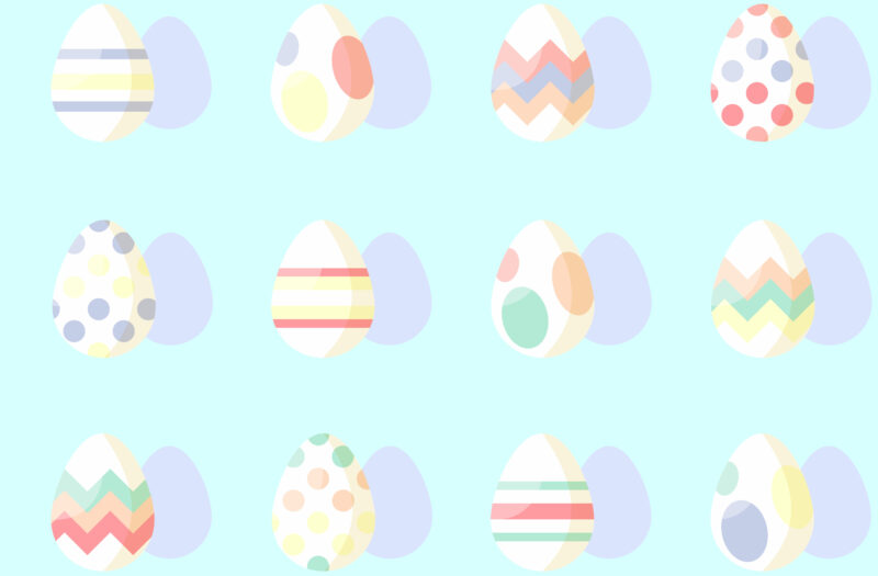 View Pastel Easter Eggs Free Stock Image