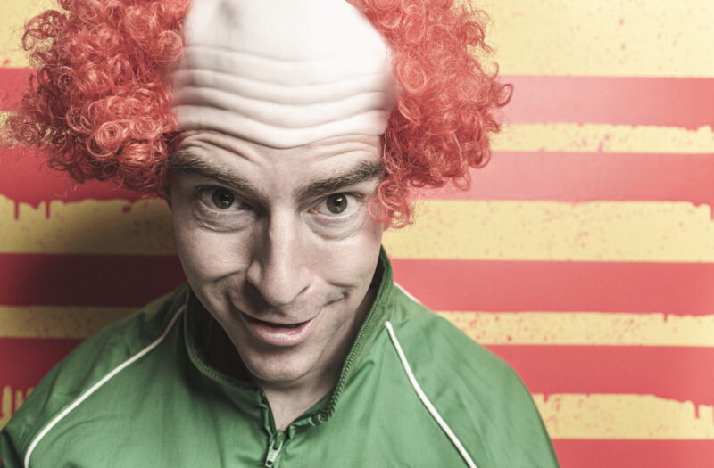 View Clown Wig Free Stock Image