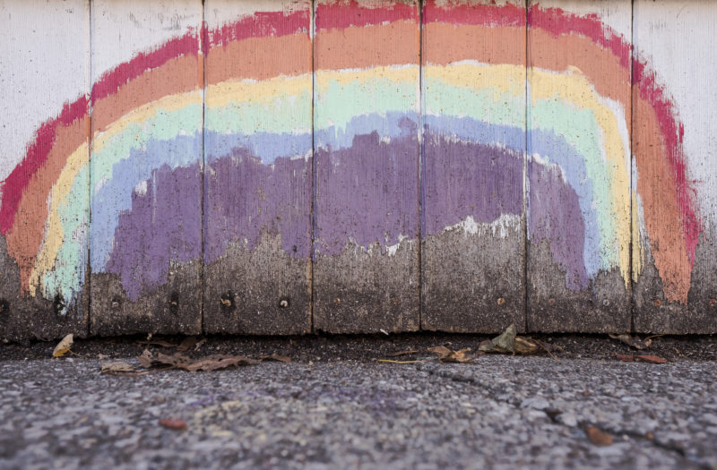 Rainbow Wall Free Stock Photo