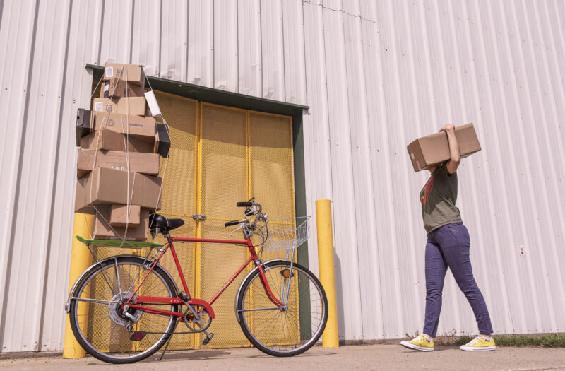View Bicycle Delivery Free Stock Image
