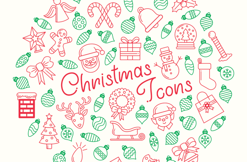 Christmas Icons Free Vector Free Photo