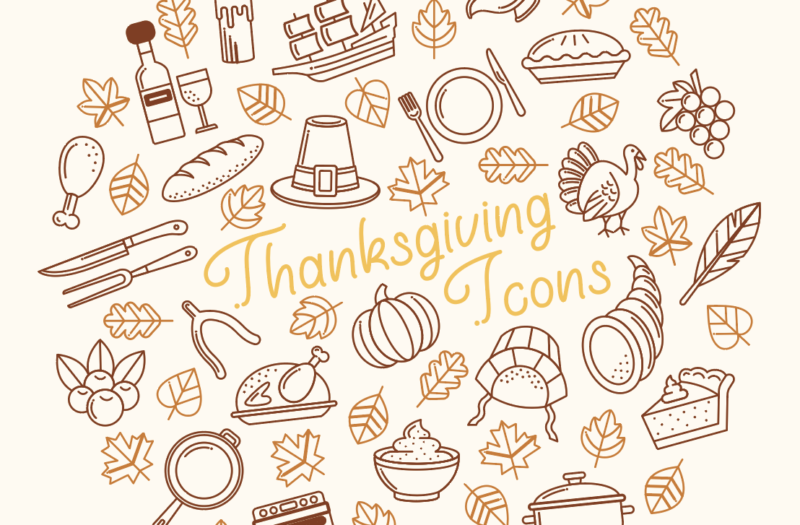 View Thanksgiving Icons Free Stock Vector