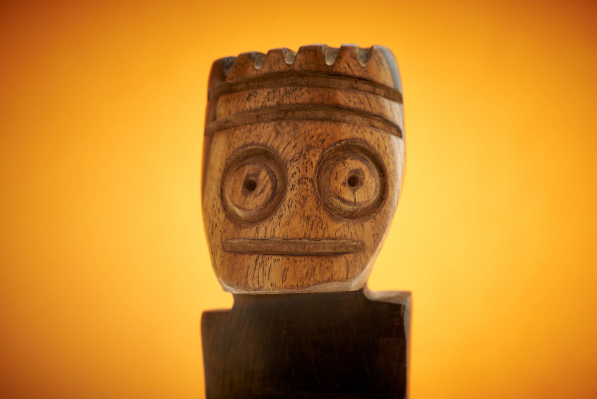 Carved Wooden Face Free Stock Photo