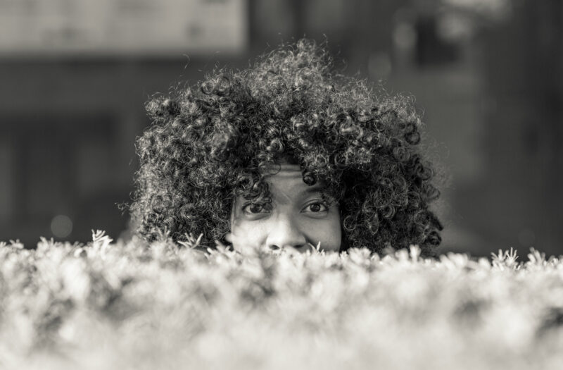 View Hiding Face Free Stock Image