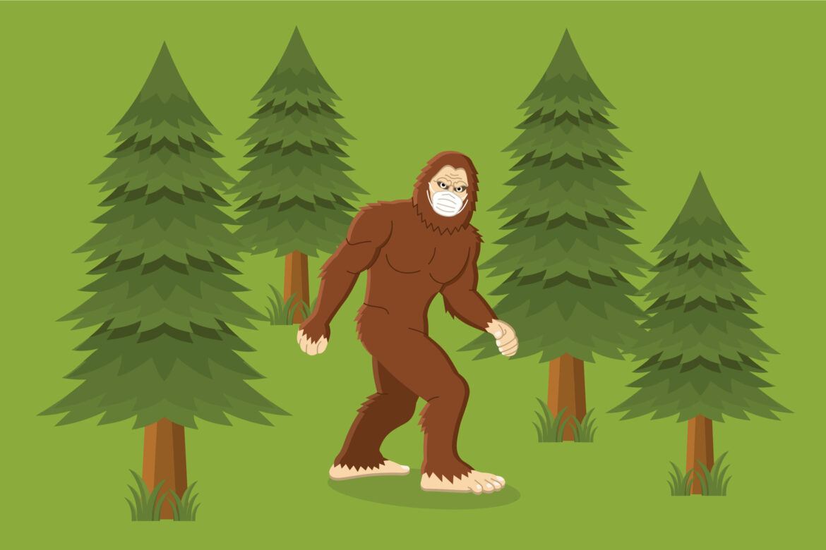 Big foot forest Free Stock Vector