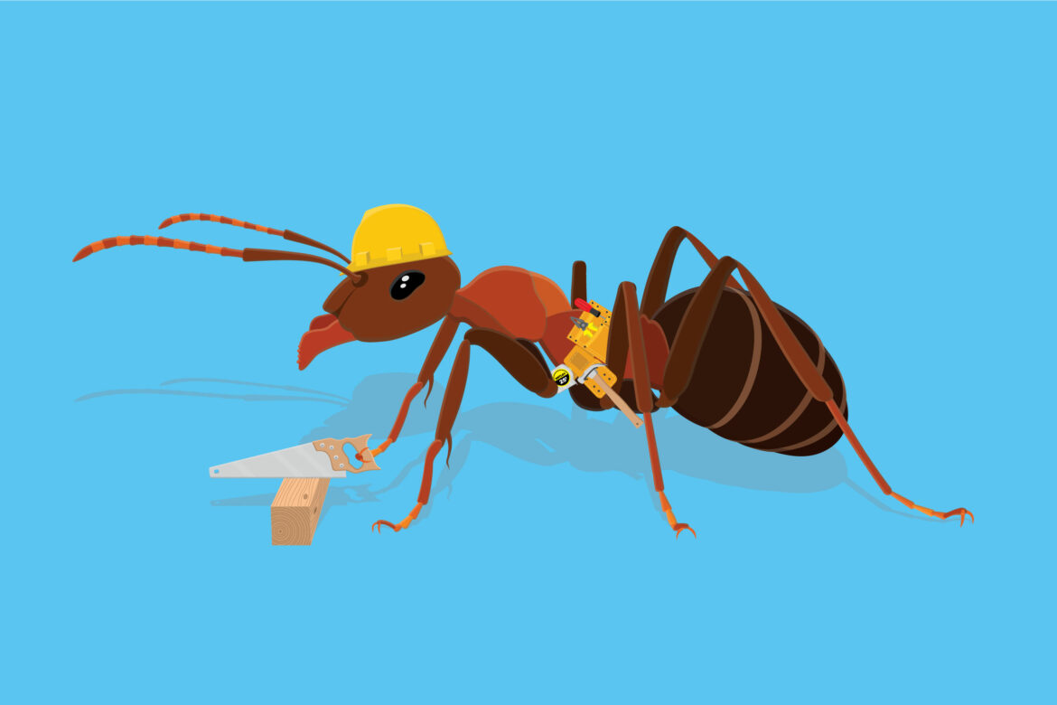 Ant Working Free Vector