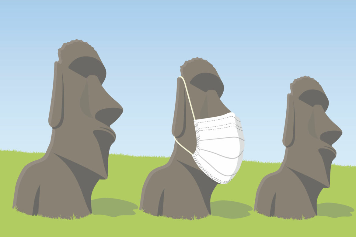 Island Statues Free Stock Vector