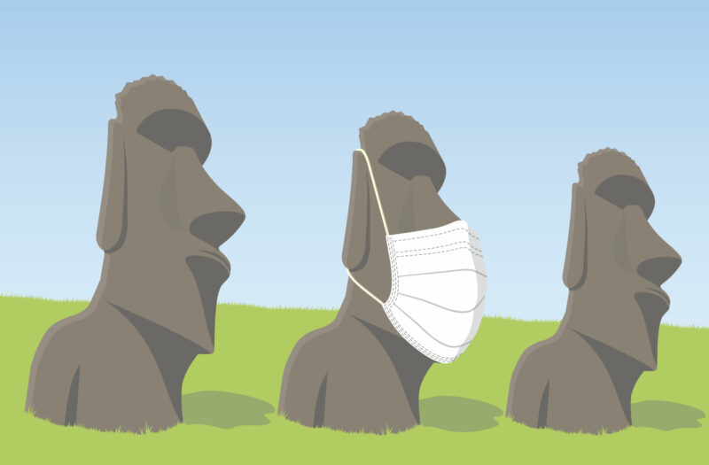 View Island Statues Free Stock Vector