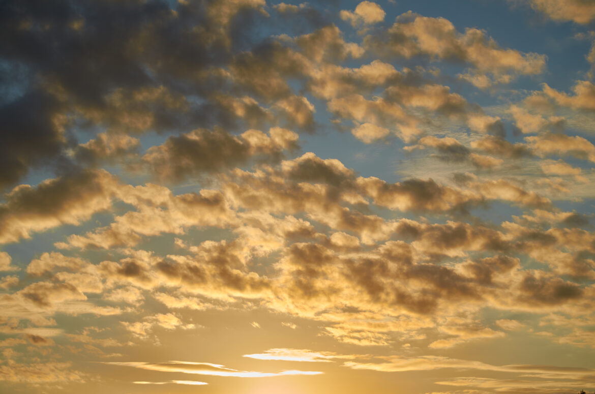 Golden Clouds Dusk Free Stock Photo