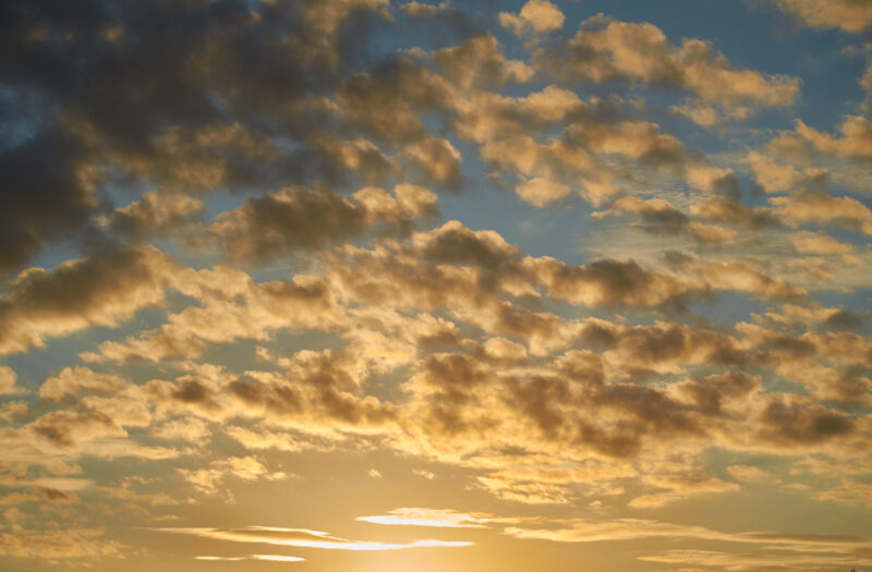 View Golden Clouds Dusk Free Stock Image