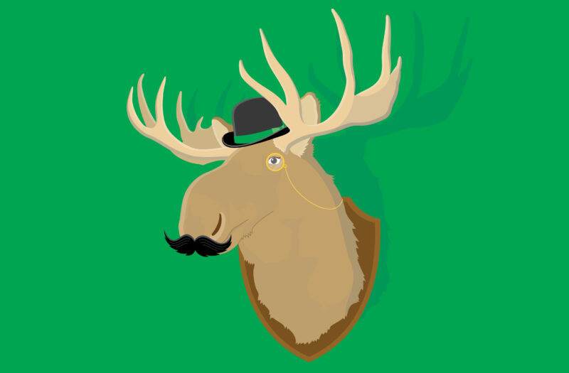 Moose head Free Vector