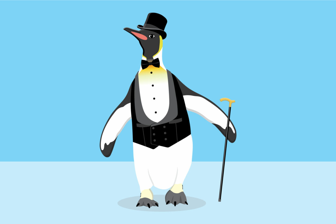 Funny Penguin Free Vector