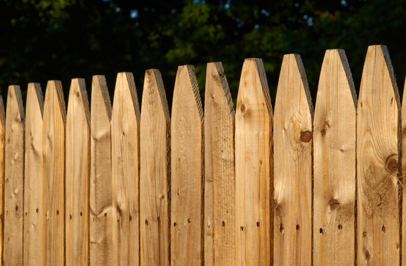 View Wooden fence garden Free Stock Image