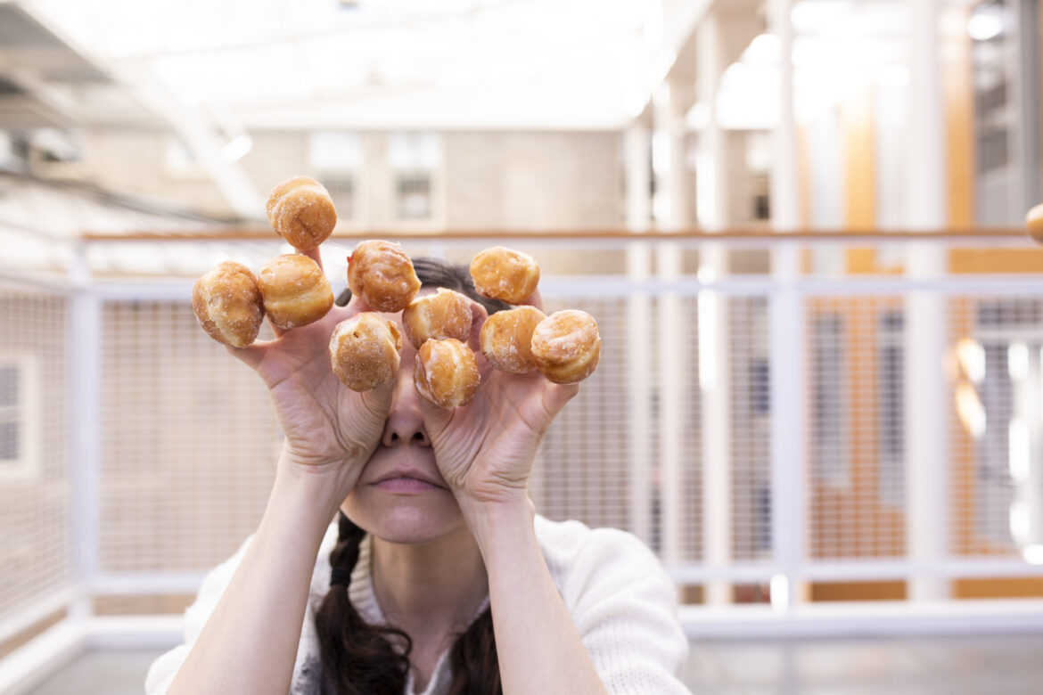 Woman with Donuts Free Stock Photo
