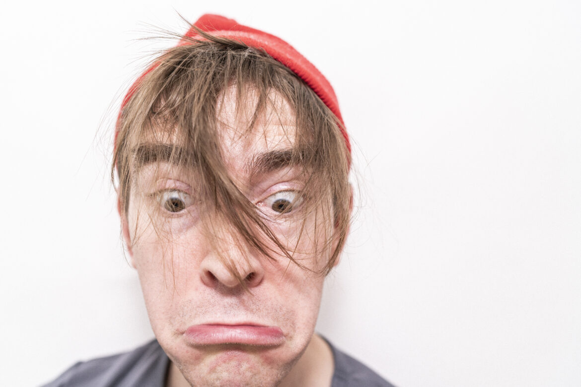 Frown Face Man Free Stock Photo