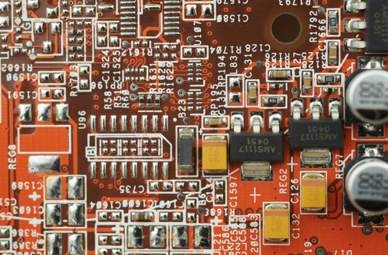 Circuit Chip Background Free Stock