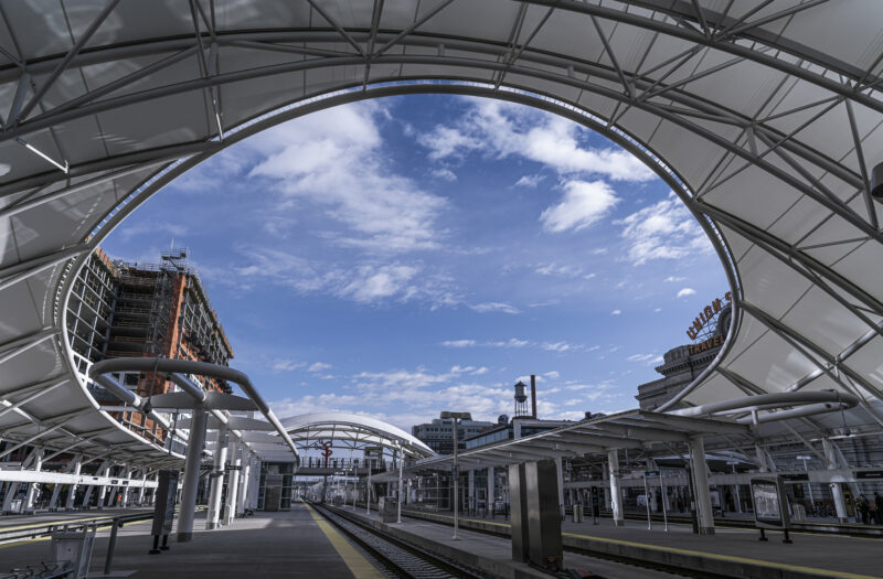 View Empty Train Station Free Stock Image