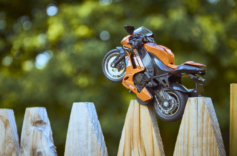 View Toy Motorcycle Free Stock Image